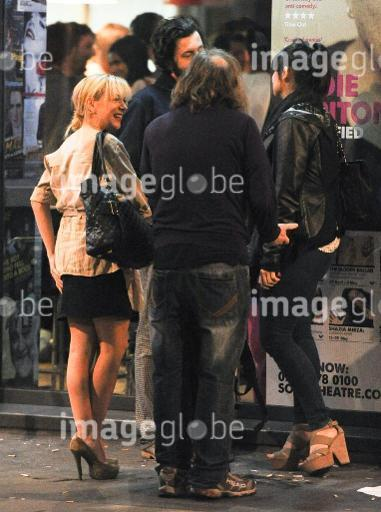 Russell Brand and Sheridan Smith seen on a night out at the Soho Theatre Comedy Cabaret Bar, Sheridan leaves early and gets escorted to a nearby hotel by Russell Brand's driver  Featuring: Sheridan Smith Where: London, United Kingdom When: 22 May 2013 Credit: Karl Piper/WENN